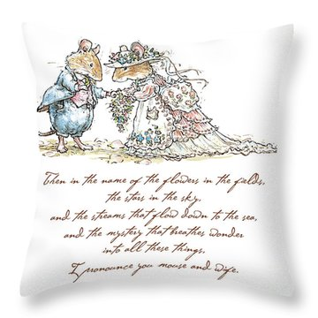 I Pronounce You Mouse And Wife Throw Pillow