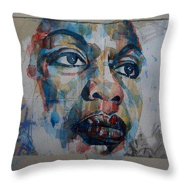 I Put A Spell On You - Nina Simone  Throw Pillow