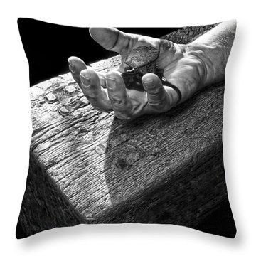 I Reached Out To You Throw Pillow