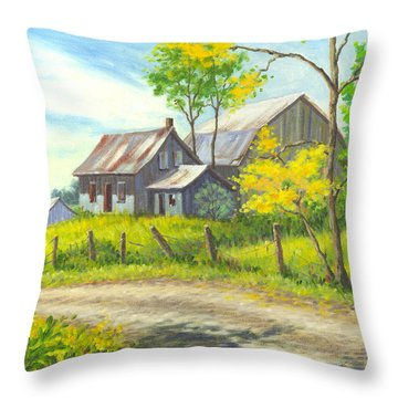 I Remember When Throw Pillow by Richard De Wolfe