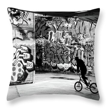 I Ride Alone Throw Pillow