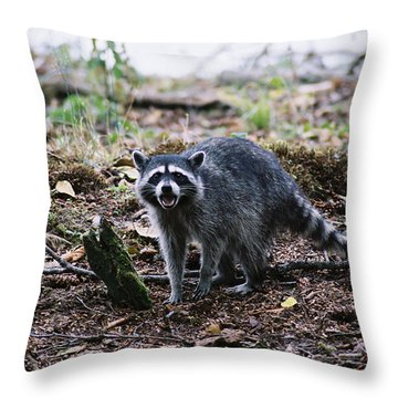I Said No... Throw Pillow by Frank Larkin