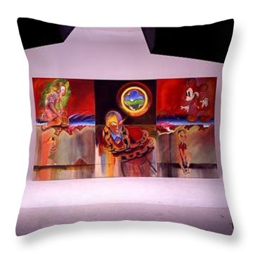 Throw Pillow featuring the painting I Saw The Figure Five In Gold by Charles Stuart