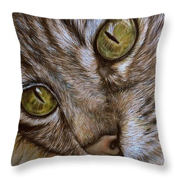 I See Throw Pillow by Heidi Kriel