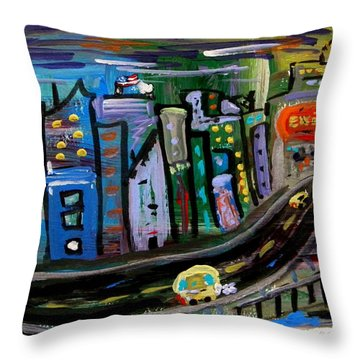 Throw Pillow featuring the painting I See My Destination by Mary Carol Williams