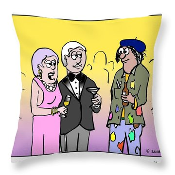 I See That You Are An Artist. Throw Pillow