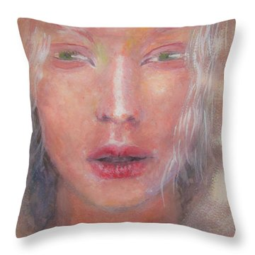 Throw Pillow featuring the painting I See The Light by Jarko Aka Lui Grande