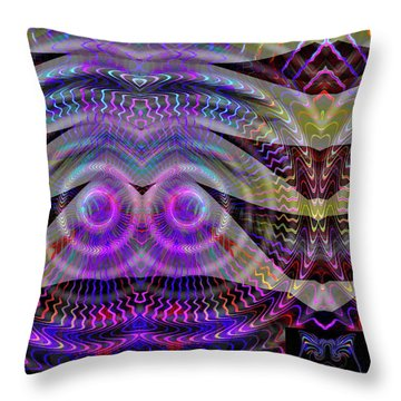 Throw Pillow featuring the digital art I See You by Visual Artist Frank Bonilla