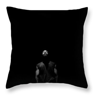 Throw Pillow featuring the photograph I See Your Face by Eric Christopher Jackson