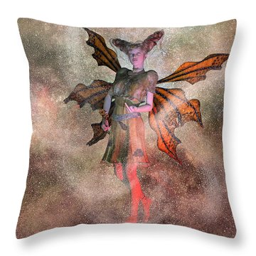 I See Your Fairy Dust And Raise You This Throw Pillow by Betsy Knapp