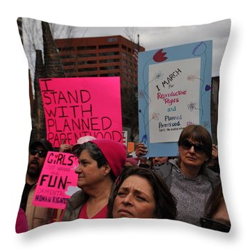 I Stand  Throw Pillow