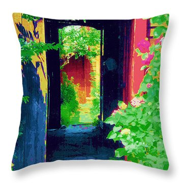 I Stand At The Door And Knock Throw Pillow