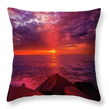 Throw Pillow featuring the photograph I Still Believe In What Could Be by Phil Koch