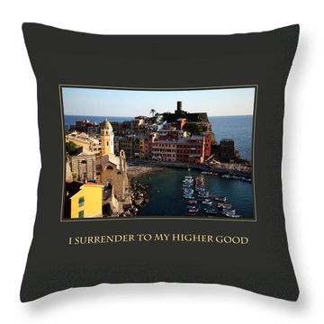 I Surrender To My Higher Good Throw Pillow by Donna Corless