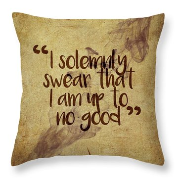 I Swear Throw Pillow
