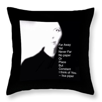Throw Pillow featuring the digital art I Think Of You by Lisa Piper