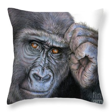 I Think Therefore I Am Throw Pillow