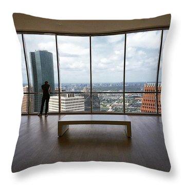 Reflecting Over #houston Throw Pillow