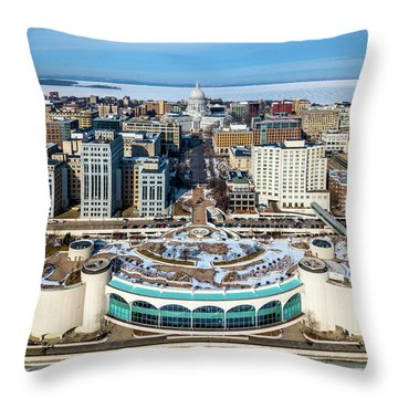 Throw Pillow featuring the photograph I Took The Isthmus by Randy Scherkenbach
