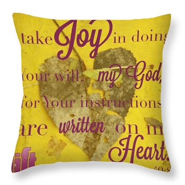 I Waited Patiently For The Lord To Help Throw Pillow
