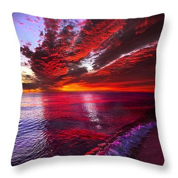I Wake As A Child To See The World Begin Throw Pillow