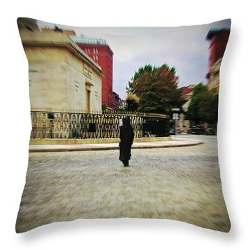Throw Pillow featuring the photograph I Walk Alone by Brian Wallace