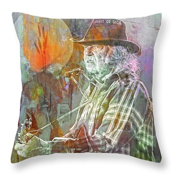 I Wanna Live, I Wanna Give Throw Pillow by Mal Bray