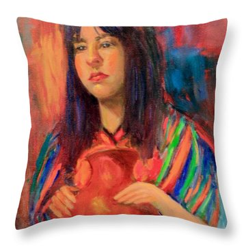 I Want This Jug Throw Pillow by Marcia Dutton