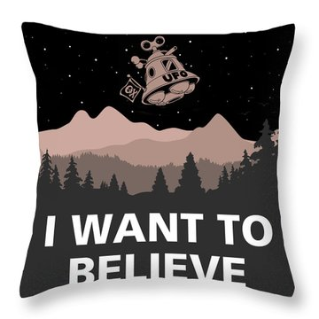 Throw Pillow featuring the digital art I Want To Believe by Gina Dsgn