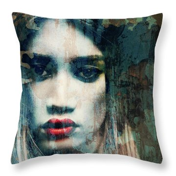 Throw Pillow featuring the mixed media I Want To Know What Love Is  by Paul Lovering