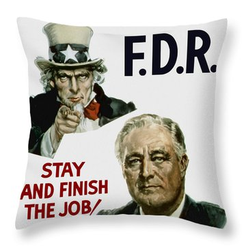 I Want You Fdr  Throw Pillow