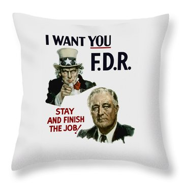 I Want You Fdr  Throw Pillow by War Is Hell Store