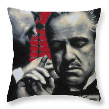 I Want You To Kill Him 2013 Throw Pillow by Luis Ludzska