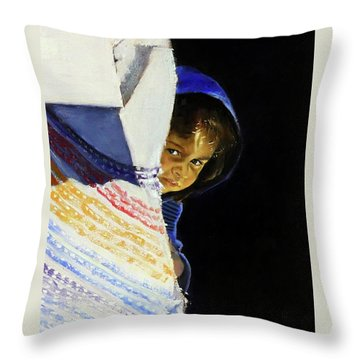 I Was A Stranger Throw Pillow by Gordon Bell