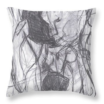 I Was Born In A Mine 3 Throw Pillow