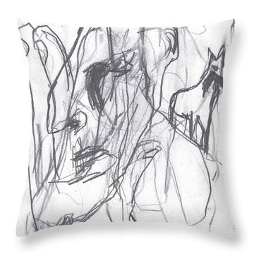 I Was Born In A Mine 9 Throw Pillow