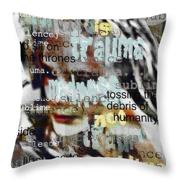 Mistaken Identity-i Will Be Silent No More Throw Pillow