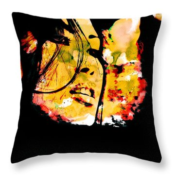 Inexorably, Time Moves Throw Pillow