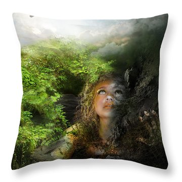 I Will Break Free Throw Pillow by Mary Hood