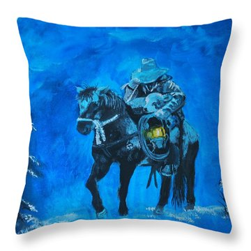 Throw Pillow featuring the painting I Will Carry You by Leslie Allen