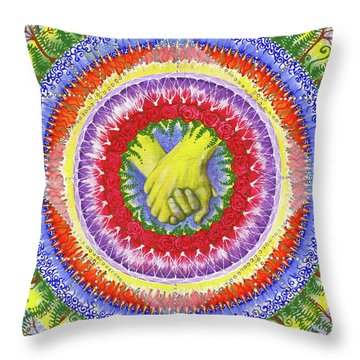 Throw Pillow featuring the painting I Will Have You And You Will Have Me #1 by Kym Nicolas