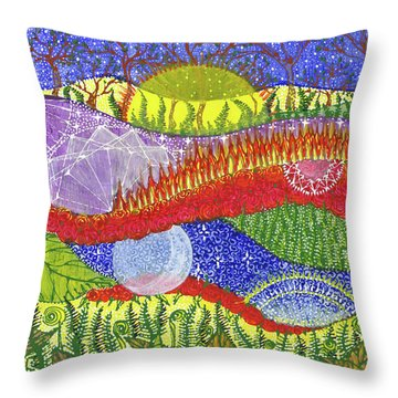 Throw Pillow featuring the painting I Will Have You And You Will Have Me #2 by Kym Nicolas