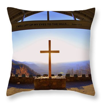 I Will Lift My Eyes To The Hills Psalm 121 1 Throw Pillow