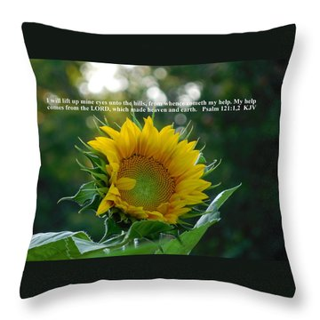 I Will Lift Up Mine Eyes Throw Pillow