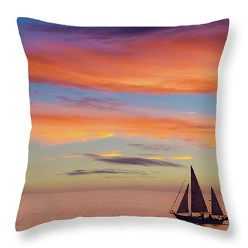 I Will Sail Away, And Take Your Heart With Me Throw Pillow