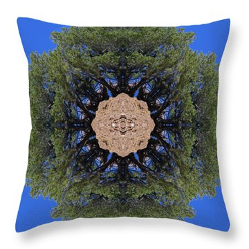 I Will Survive Tree Kaleidoscope Throw Pillow