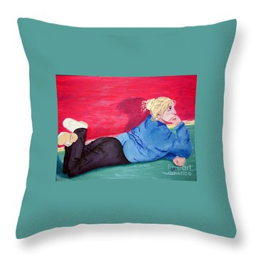 I Wonder? Throw Pillow