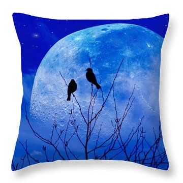 Throw Pillow featuring the photograph I Would Give You The Moon by John Rivera