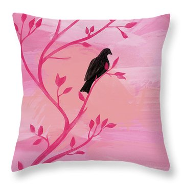 I Would Rather Have Birds Throw Pillow