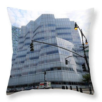 Iac Building By Frank Gehry In Chelsea Throw Pillow